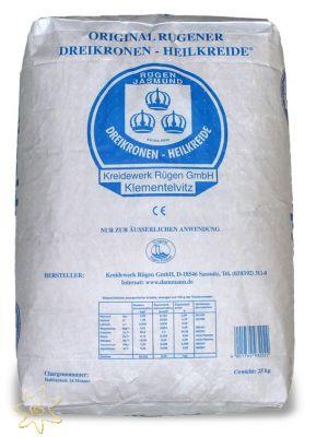 Original Rügener Dreikronen-Heilkreide (25 kg Pulver im Papiersack)