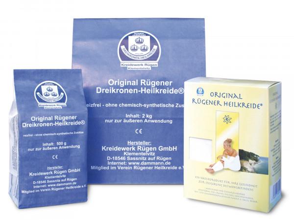 Original Rügener Dreikronen-Heilkreide (2 kg Pulver im Papierbeutel)