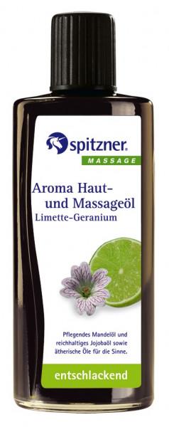 Aroma Haut- und Massageöl LIMETTE-GERANIUM